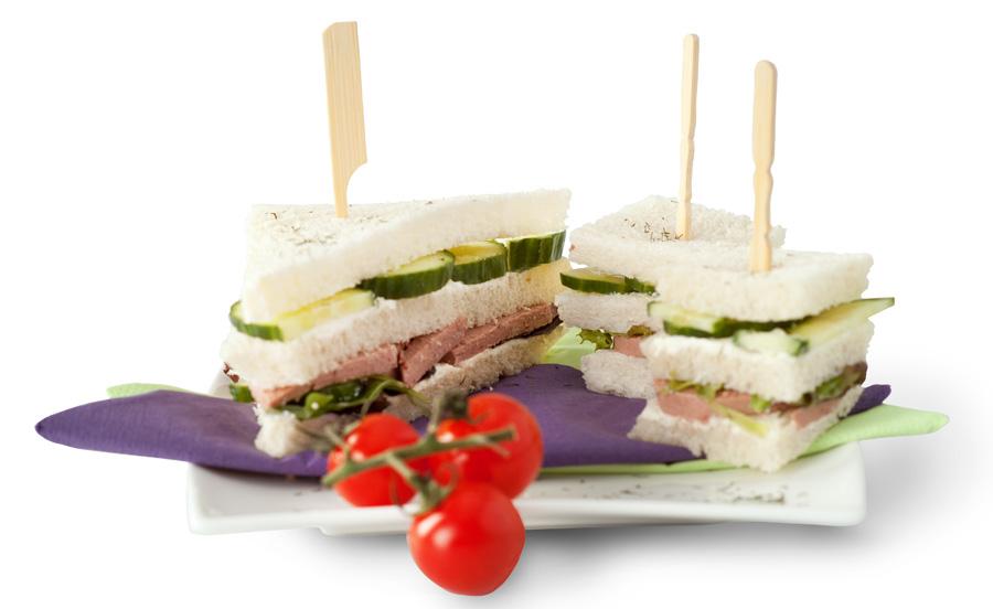 sandwich uitgesneden