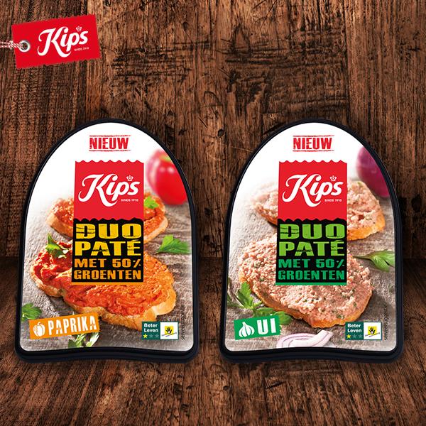 Nieuw! Kips DUO paté met 50% groenten!