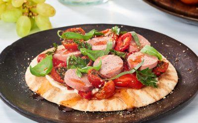 Leverworst pizza