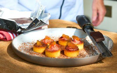 Snackcups met Kips Slagersleverworst en sinaasappelroom